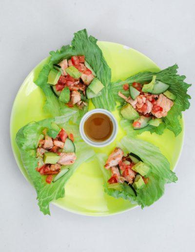 salmon lettuce tacos