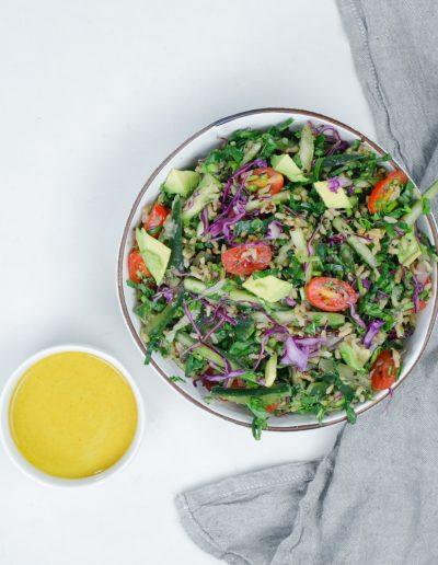 quinoa rice salad yovana