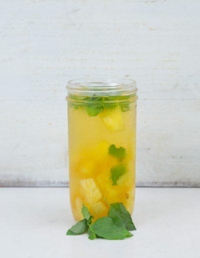 mint pineapple iced tea